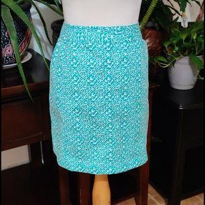 NWOT Teal Blue Ann Taylor Skirt